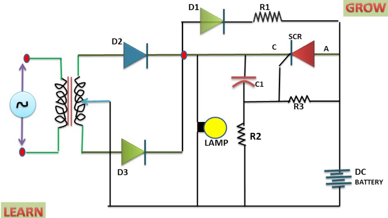 Emergency Light Circuit Diagram Free Automatic Using Scr Wiring Diagrams