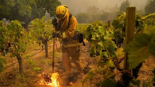 CAL FIRE gives update on Glass Fires in Northern CA