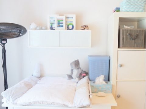 babyzimmer roomtour mit wickeltisch styling ausstattung und organisation youtube. Black Bedroom Furniture Sets. Home Design Ideas