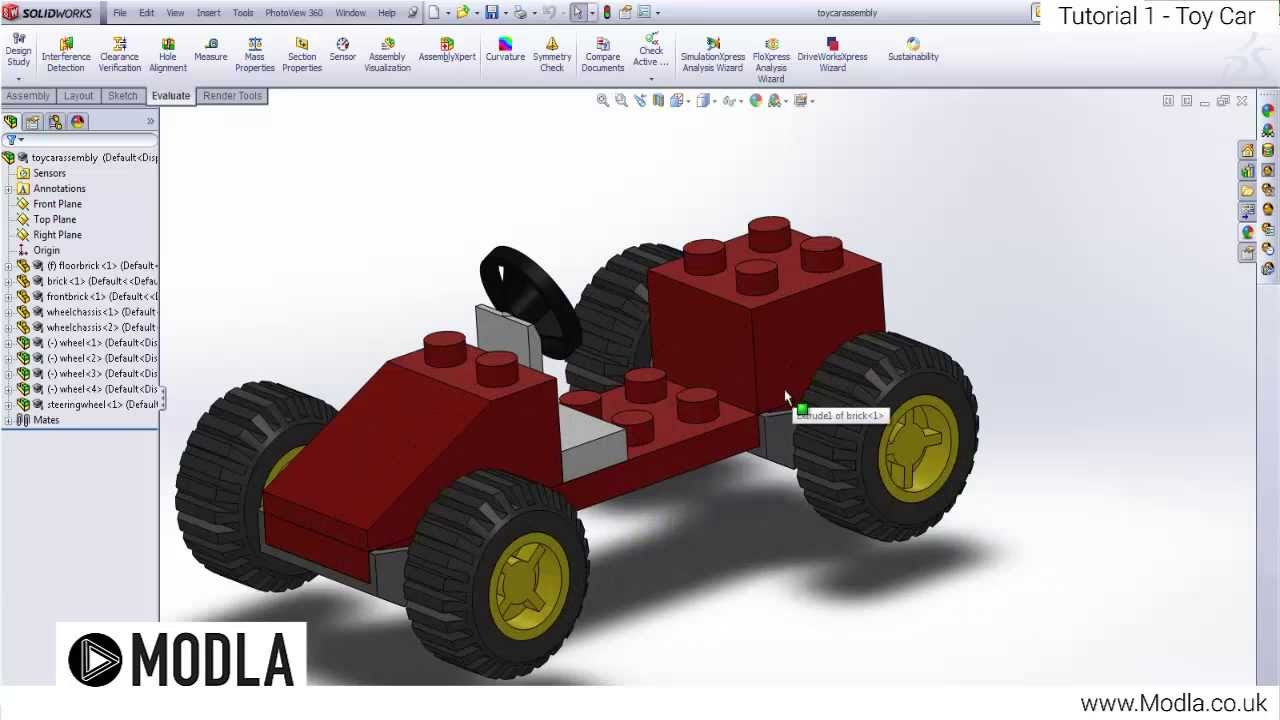 Solidworks Tutorial Parts And Assemblies Youtube
