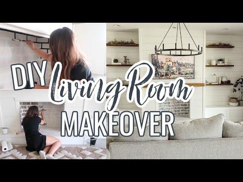 diy-living-room-makeover-on-a-budget- -decorating-ideas- -modern-farmhouse-living-room