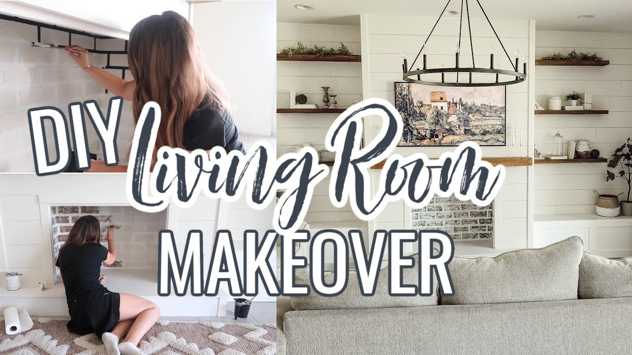 DIY LIVING ROOM MAKEOVER ON A BUDGET | Decorating Ideas | Modern Farmhouse Living Room
