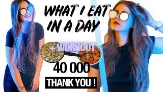 What I Eat ? + ARMS, BACK, SHOULDERS Routine 💪🏻 | 40 K SUBSCRIBERS !
