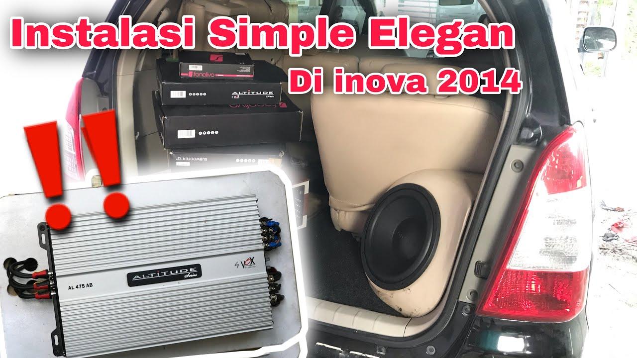 Instalasi Audio Mobil Inova Memakai Vox