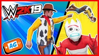 FORKY ROMPE A WOODY !!! 🔥 Royal Rumble 2 en WWE 2k19 Toy Story 4