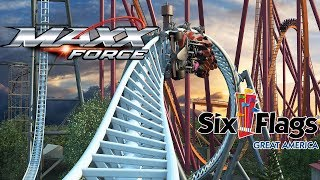 Maxx Force Roller Coaster Six Flags Great America 2019 - Fastest Launch In USA