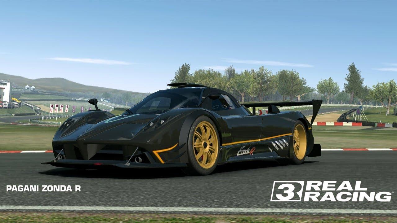 real racing 3 pagani zonda r grand prix circuit mastery race youtube