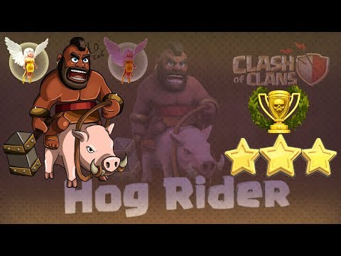 Clash of Clans | 3 Stars Strategy | 3 Stars with any War Base with Hog Riders and Max Healer level 5