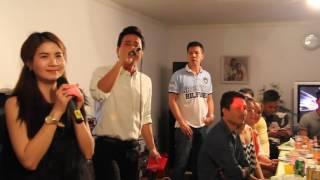 Kha Ly múa Sóc Sờ Bai | Trí Quang hát karaoke Liên Khúc Miền Tây tại Thụy Điển