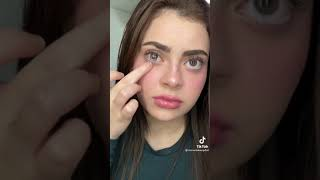 Trying To Put My Contacts In (tiktok) #shorts credit monamakeupdoll