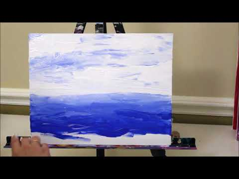 How to Paint a Seascape with Your Fingers – Quick Painting Idea