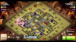 The Red Line vs ClashHeads, attack #13 TH10 vs TH10 | Clan Wars | Clash Of Clans HD