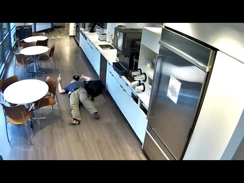 Caught on Camera: Man's 'Fake' Workplace Slip and Fall