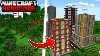 I Built a GIANT CITY in Minecraft Hardcore (#34)