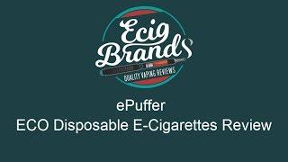 ePuffer: Eco Disposable E-Cigarette Review