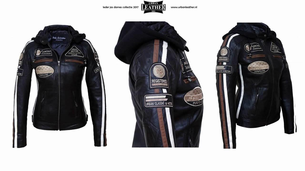 dames leren jas met capuchon AANBIEDING Urban Leather Leren dames jassen NL NH
