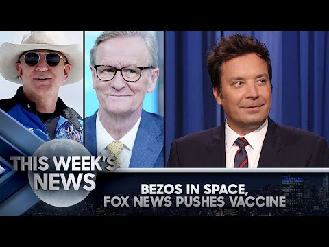 Jeff Bezos Wears Cowboy Hat to Space, Fox News' COVID-19 PSA: This Week's News | The Tonight Show