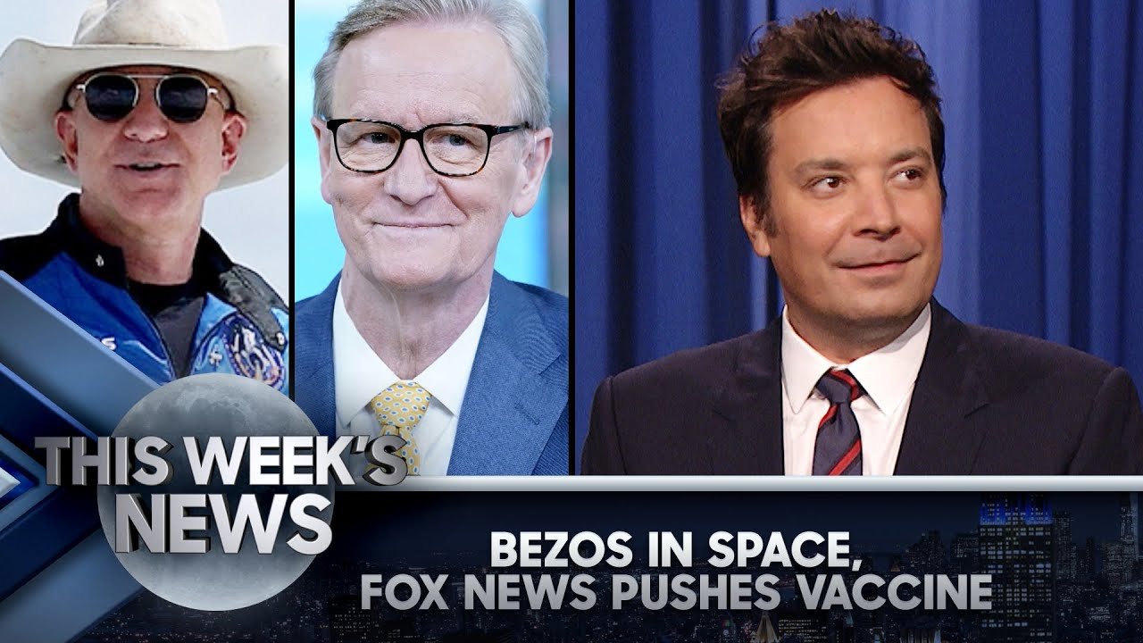 Jeff Bezos Wears Cowboy Hat to Space, Fox News' COVID-19 PSA: This Week's News   The Tonight Show