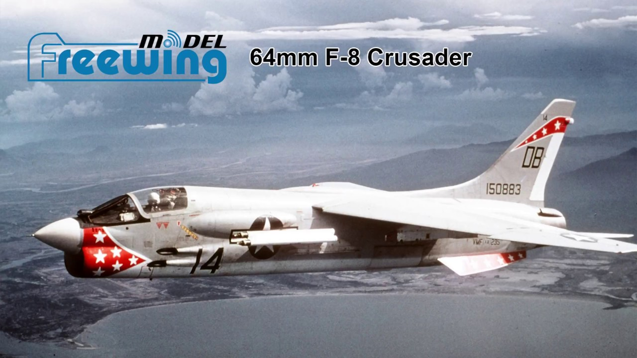freewing f 8 crusader 64mm edf jet flight review xtreme hobby youtube. Black Bedroom Furniture Sets. Home Design Ideas