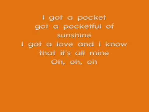 Natasha Bedingfield- Pocket Full Of Sunshine ( lyrics )