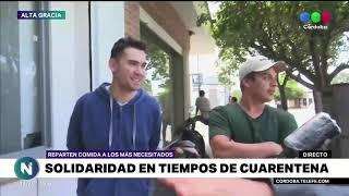En Alta Gracia, se realizan actividades solidarias, para repartir comida caliente entre quienes más