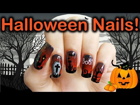 Easy Halloween Nail Stamping Tutorial Part 1 thumbnail