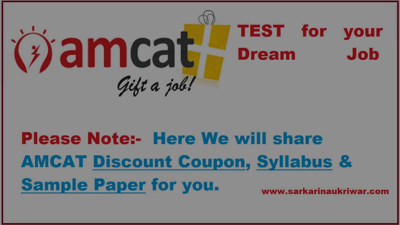 AMCAT Discount Coupon 2017, AMCAT Syllabus, AMCAT Sample Papers ...