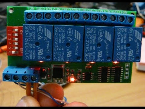 4 channel rs485 relay board