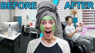 I Put A Beauty Salon In My Office!