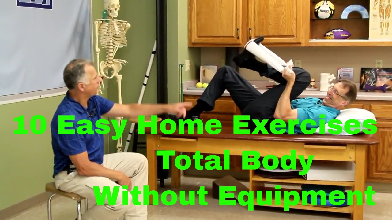 Easy home exercises total body without equipment