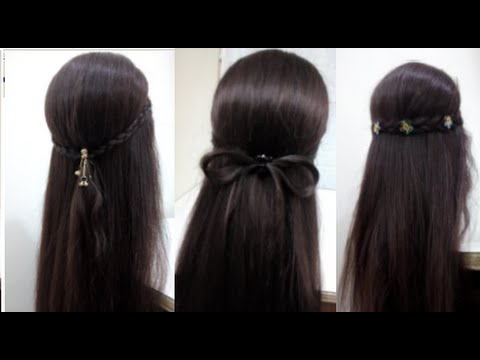 5 Hairstyles For Long Hair Quick And Easy Hairstyles Youtube