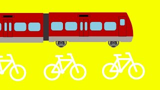 【踏切アニメ】★デンマークのふみきり★  Railroad Crossing Anime for Kids !/Jernbaneoverkørsel