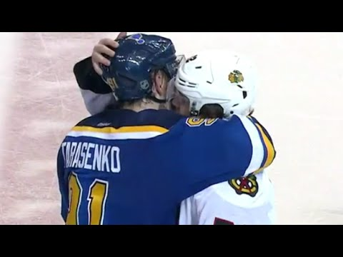 Artemi Panarin and Vladimir Tarasenko Shake Hands