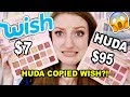WISH MAKEUP vs HUDA BEAUTY!!! IS THE HUDA NUDE PALETTE A COPY OF BEAUTY CREATIONS FROM WISH??
