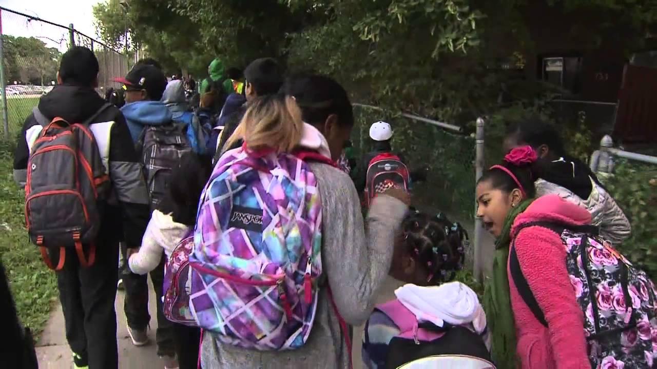 Volunteer program helps kids walk to school safely