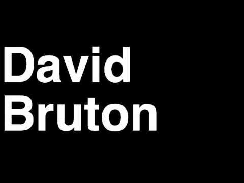 How to Pronounce David Bruton Denver Broncos NFL Football Touchdown TD Tackle Hit Yard Run