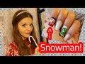 Christmas Nail Art Snowman Nail Design