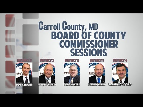 Board of Carroll County Commissioners Open Session afternoon of July 16, 2015