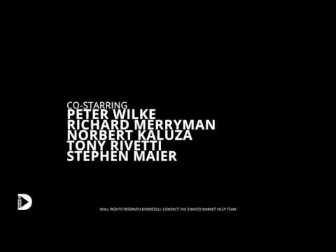 film credits after effects template youtube