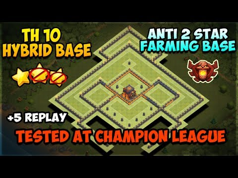 Clash Of Clans | TH10 Farming Base 2017 | TESTED IN CHAMPION LEAGUE | BEST Town Hall 10 Hybrid Base