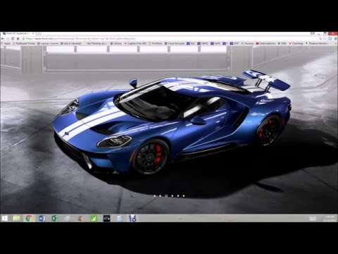 Using The  Ford Gt Configurator