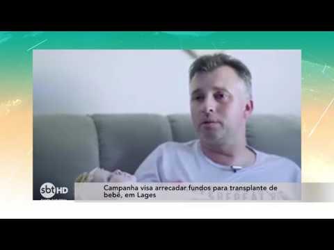 Campanha visa arrecadar fundos para transplante de bebê, em Lages
