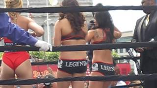 Sexy Ring Card Girls at Asian Heritage Street Celebration Muay Thai Fights