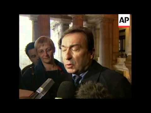 BELGIUM: FORMER NATO SECRETARY CLAES GIVEN SUSPENDED SENTENCE