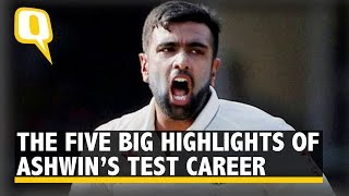 The Quint: The Five Big Highlights of Ravichandran Ashwin's Test Career