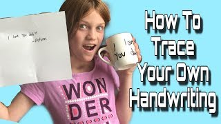 How To Cut Your Handwriting Out In Vinyl | Silhouette Cameo