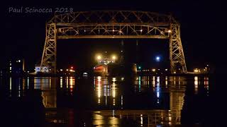 American Century arriving Duluth, you can see the Spirit in the bac...