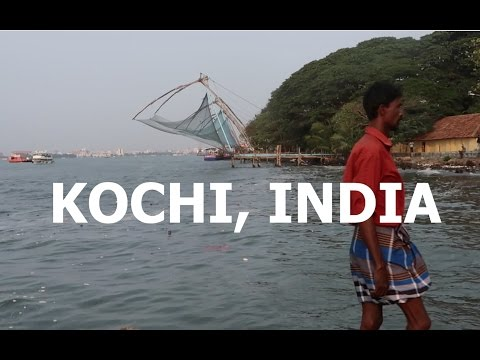 Chinese Fishing Nets in Fort Kochi - INDIA VLOG 1