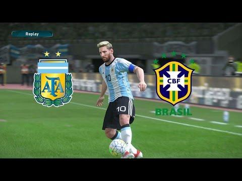 PES 17 - Argentina x Brasil  - Super Clássico das Américas - Estádio el Monumental de Nuñez