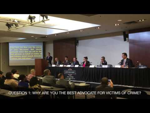Voices for Victims - Philadelphia District Attorney Candidate Forum (Sponsored by Laffey Bucci Kent)